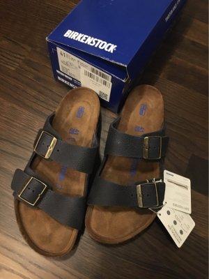 Birkenstock Arizona mit Fußbett Gr. 41 dunkelblau, NEU und ungetragen
