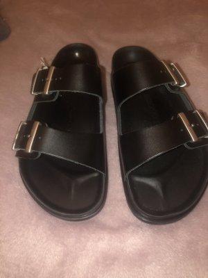 Birkenstock Romeinse sandalen zwart