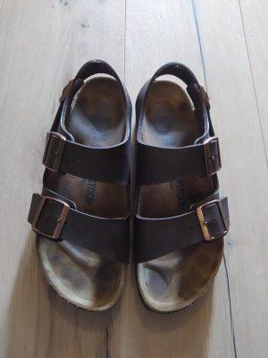 Birkenstock Comfortabele sandalen donkerbruin