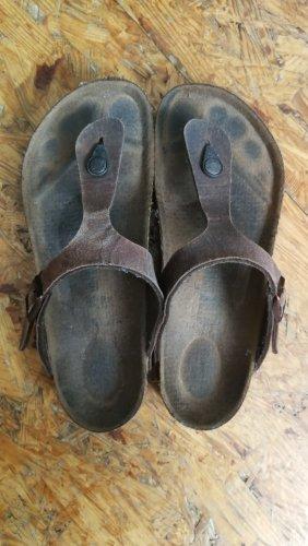 Birkenstock Sandalias cómodas marrón grisáceo