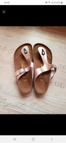 Birkenstock Pointed Toe Pumps gold-colored