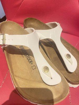 Birkenstock Sandalo infradito bianco-beige