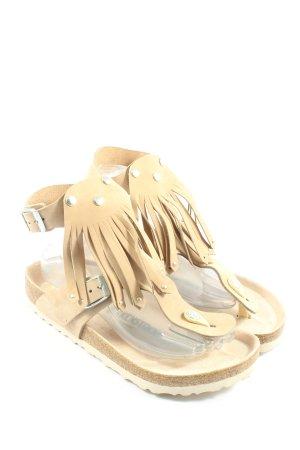 Birkenstock Sandały z rzemykami kremowy W stylu casual