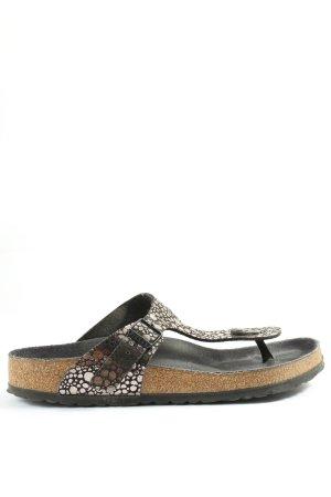 Birkenstock Dianette sandalen zwart-zilver abstract patroon casual uitstraling