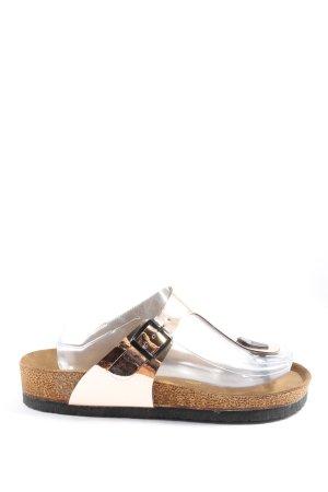 Birkenstock Sandały japonki złoto W stylu casual