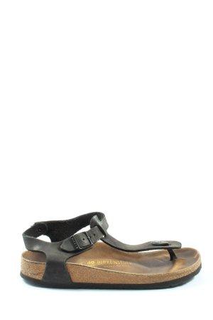 Birkenstock Sandały japonki czarny-brązowy W stylu casual
