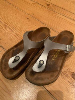 Birkenstock Toe-Post sandals silver-colored
