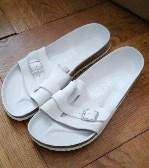 Birkenstock Comfortabele sandalen wit-lichtgrijs