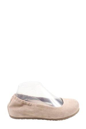 Birkenstock Składane baleriny w kolorze białej wełny W stylu casual