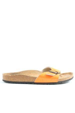 Birkenstock Flip flop sandalen licht Oranje casual uitstraling
