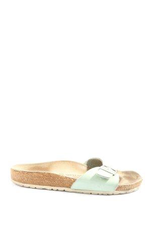 Birkenstock Sandały plażowe turkusowy-w kolorze białej wełny W stylu casual