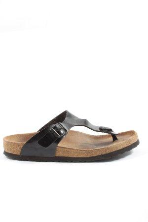 Birkenstock Flip Flop Sandalen schwarz Casual-Look