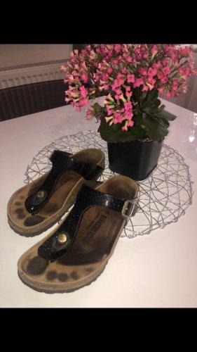 Birkenstock Flip flop sandalen zwart-donkerblauw