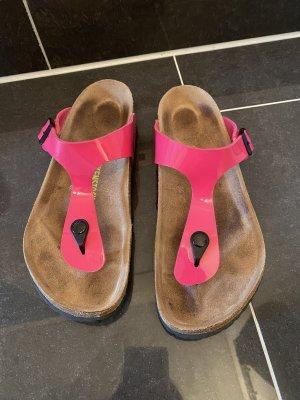 Birkenstock Sandały korkowe  różowy-magenta