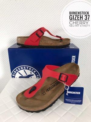 Birkenstock Gizeh red rot Leder Sandalen Neu 37 sandalen Schuhe Qualität