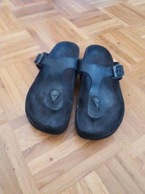 Birkenstock Flip flop sandalen zwart Leer
