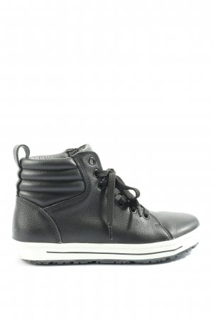 Birkenstock High top sneaker zwart quilten patroon casual uitstraling