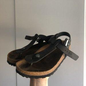 Birkenstock Teenslippers zwart
