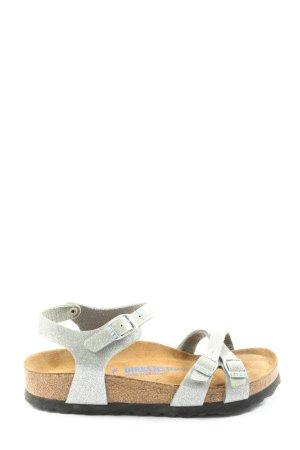 Birkenstock Comfortabele sandalen lichtgrijs-licht Oranje casual uitstraling