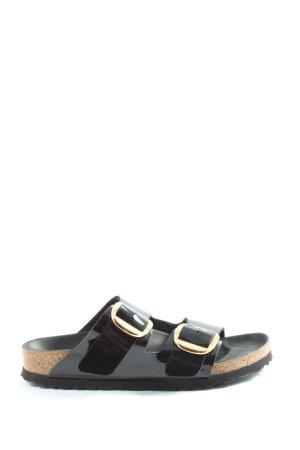 Birkenstock Comfortabele sandalen zwart-goud casual uitstraling