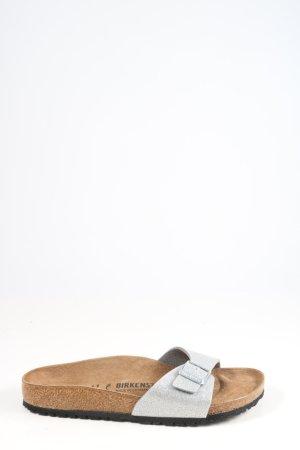 Birkenstock Comfort Sandals light grey-silver-colored casual look