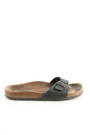 Birkenstock Sandalias cómodas negro-marrón look casual