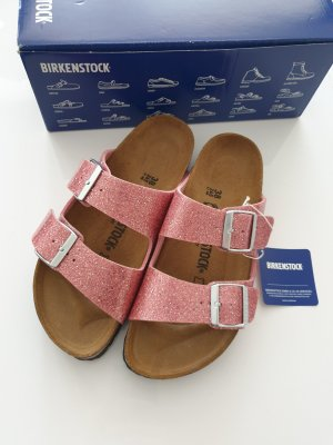 Birkenstock Sandales confort or rose-brun
