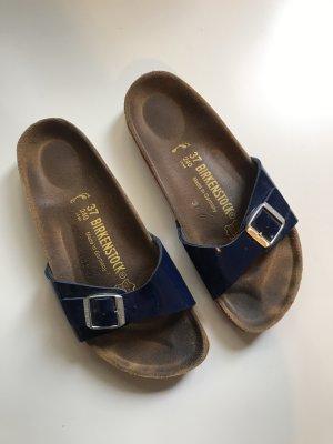 Birkenstock Sandalen met bandjes donkerblauw-magenta