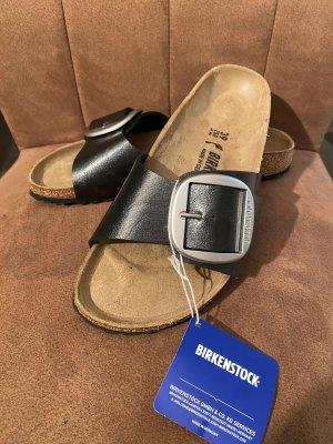 Birkenstock Sandały plażowe czarny-srebrny