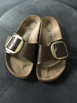 Birkenstock Comfort Sandals bronze-colored-brown leather