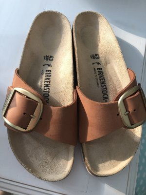 birkenstock madrid big buckle Cognac Gold 43 Schmal