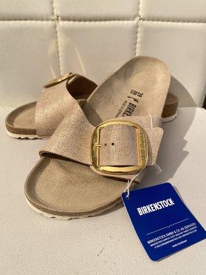 Birkenstock Sandały plażowe kremowy-złoto