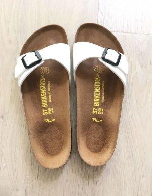 Birkenstock Sandalo comodo bianco Pelle