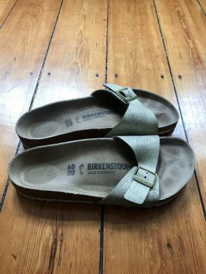 Birkenstock Sandales confort doré-crème
