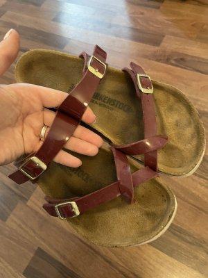 Birkenstock Sandały rzymskie głęboka czerwień-brązowy