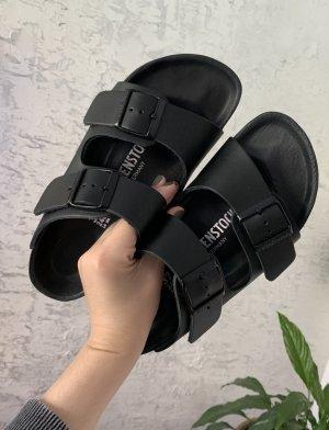 Birkenstock Comfortabele sandalen zwart Leer