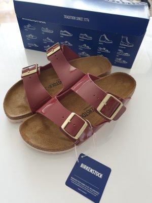 Birkenstock Sandales confort rouge carmin