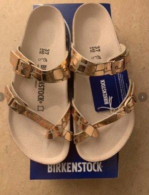 Birkenstock Sandalo toe-post color carne-arancione chiaro