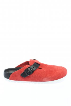 Birkenstock Pantoufles rouge-noir style décontracté