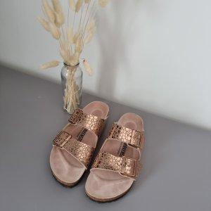 Birkenstock Wygodne sandały w kolorze różowego złota