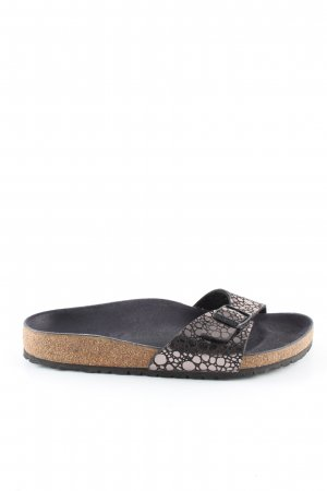 Birkenstock Sabots black-silver-colored allover print casual look