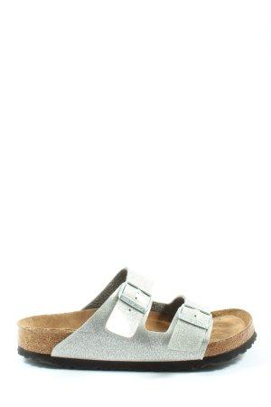 Birkenstock Sandales à lanière argenté style décontracté