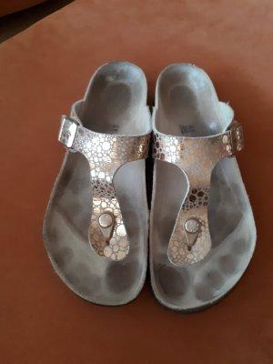 Birkenstock Comfortabele sandalen beige-grijs-bruin Leer