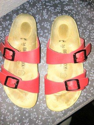 Birkenstock Comfortabele sandalen rood