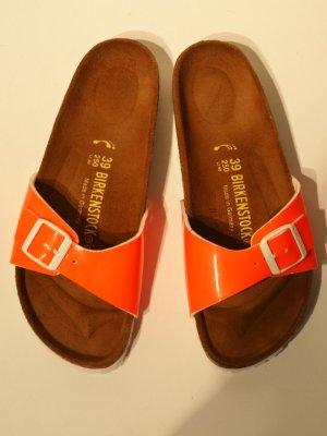 Birkenstock Comfort Sandals neon orange synthetic material