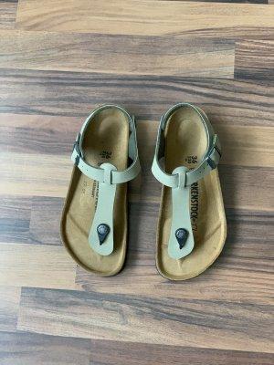 Birkenstock Flip flop sandalen groen-grijs