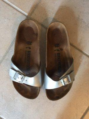 Birkenstock Comfortabele sandalen zilver