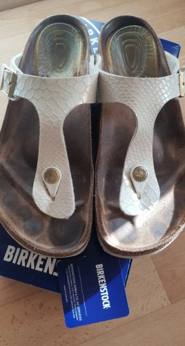 Birkenstock Flip-Flop Sandals natural white