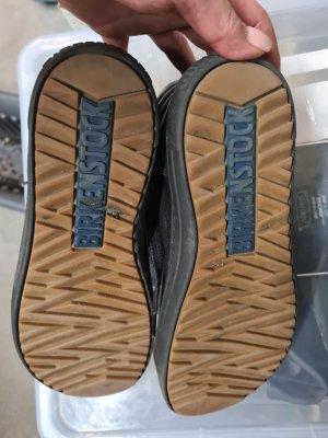 Birkenstock Sznurowane buty czarny Skóra