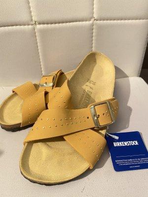 Birkenstock Sandały plażowe złotopomarańczowy-złoto